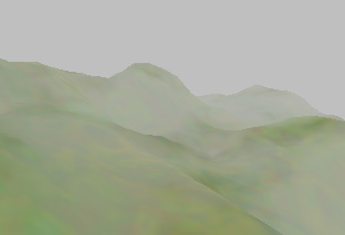 Real time rendering of heterogenous fog based on the graphics