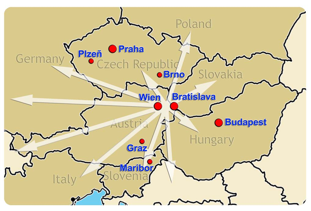 [image map of participating groups]